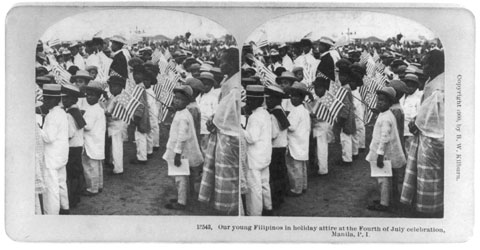 Our young Filipinos in Holiday Attire at the Fourth of July Celebration, Manila, P.I.