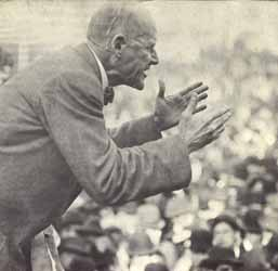 Eugene V. Debs delivering his anti-war speech in Canton, Ohio on Jun 16, 1918.